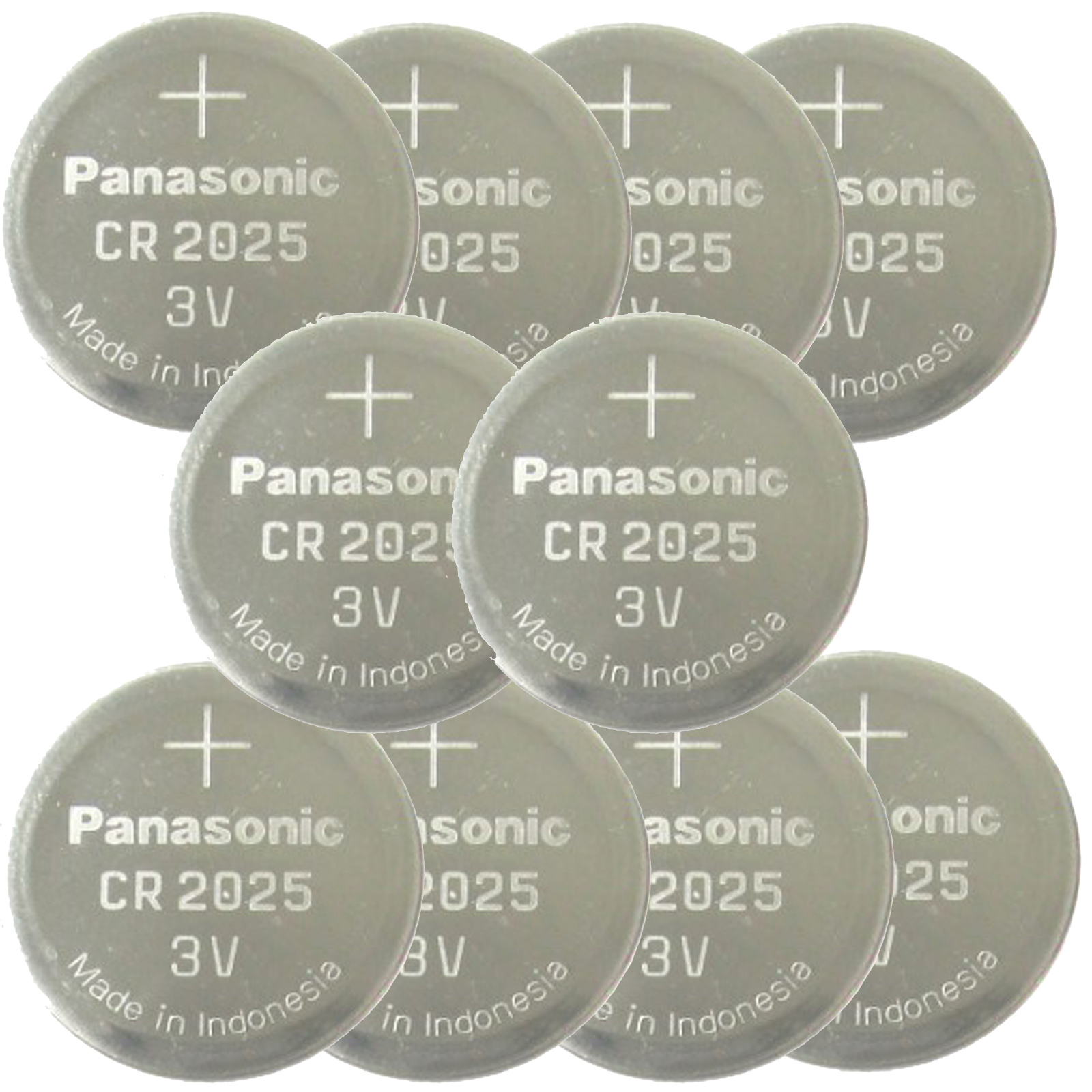 10 Pcs Panasonic Cr2025 3v Lithium Coin Cell Battery Fast