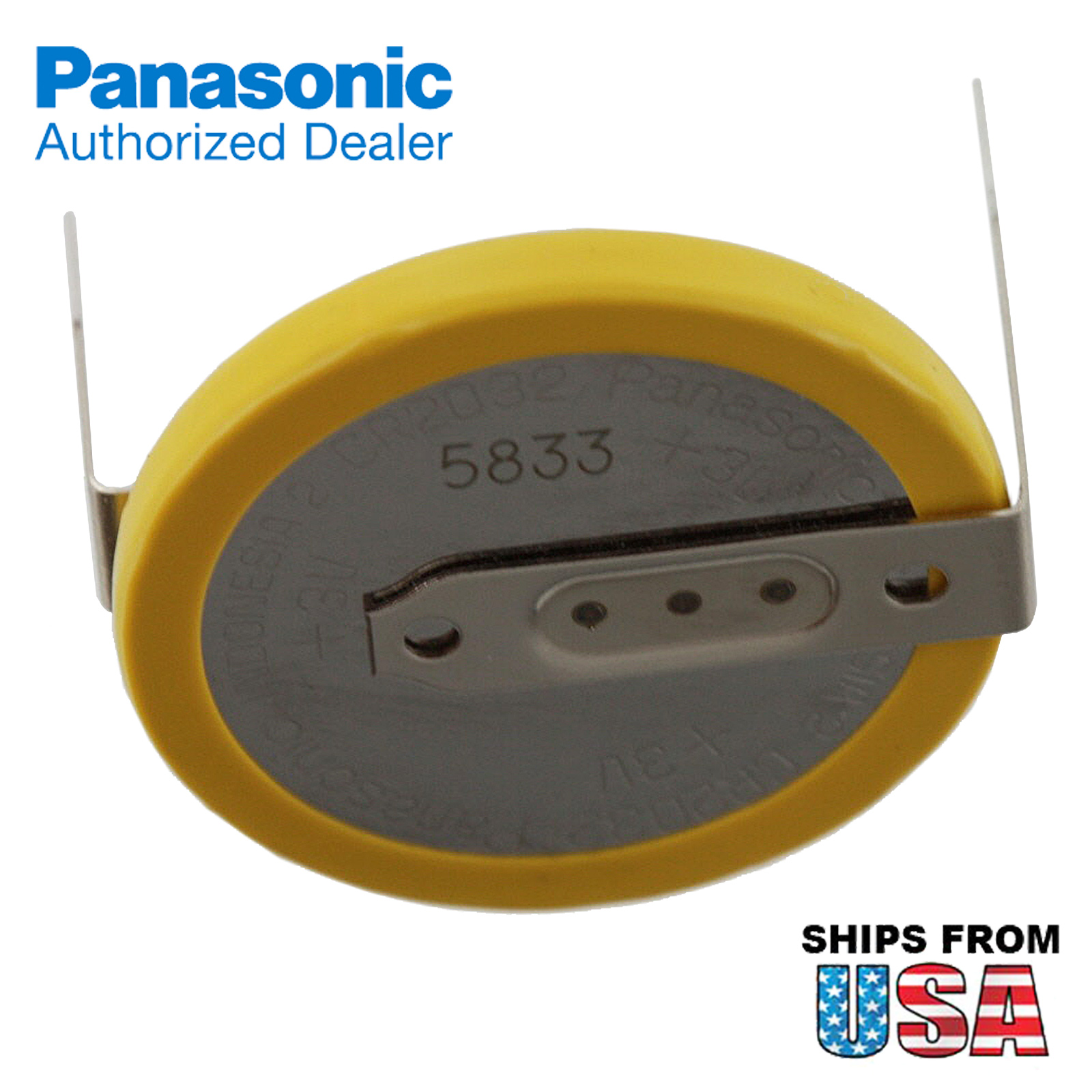 panasonic cr 2032 hmn 3v lithium coin battery horz 2 pins for pc cmos real time ebay. Black Bedroom Furniture Sets. Home Design Ideas