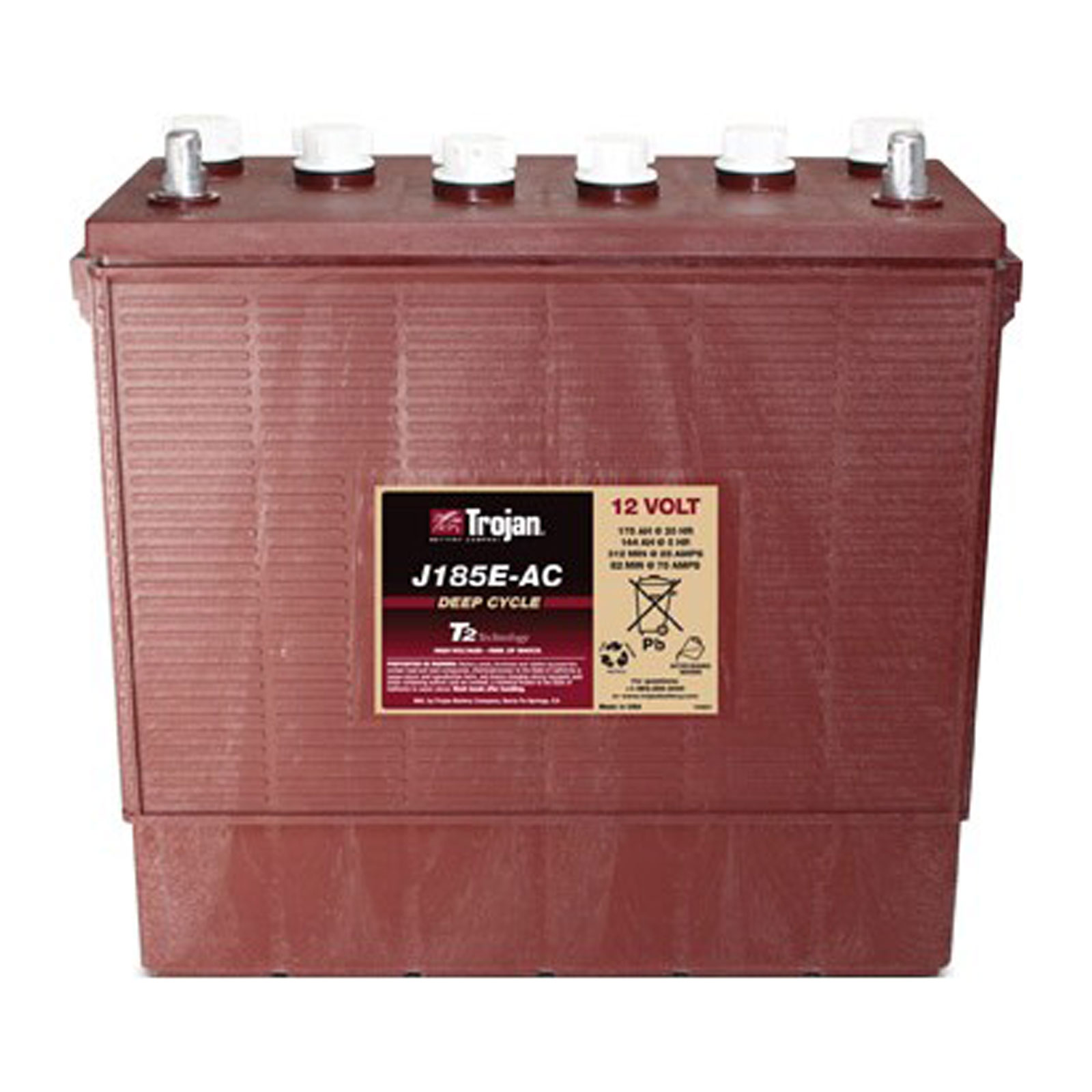 Trojan 12v 175ah J185e Ac Deep Cycle Flooded Lead Acid