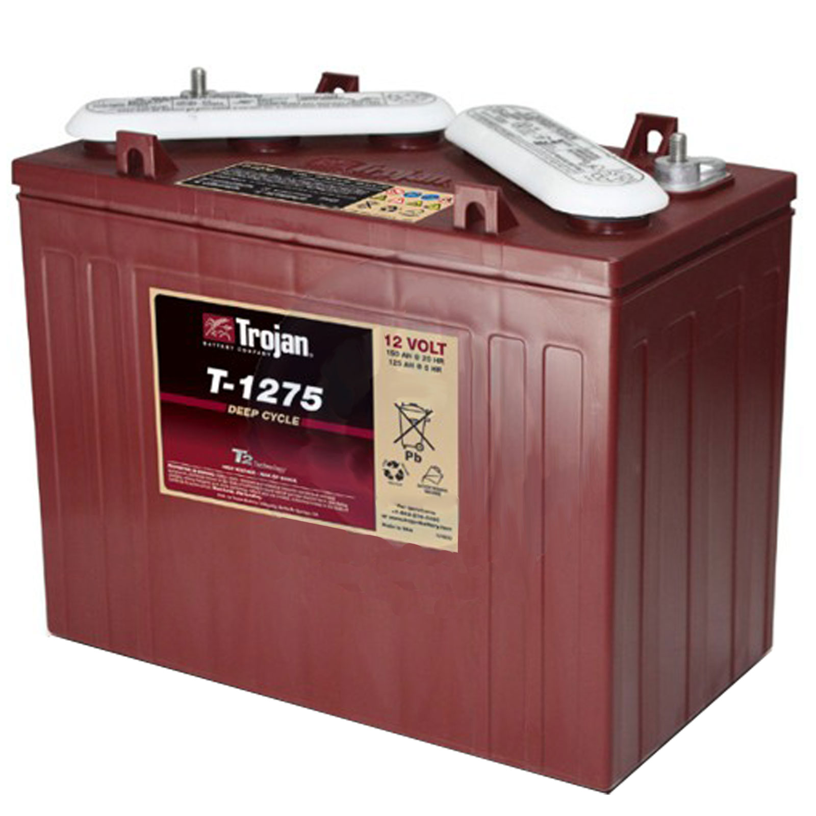 Trojan T 1275 12v 150ah Deep Cycle Flooded Lead Acid Golf