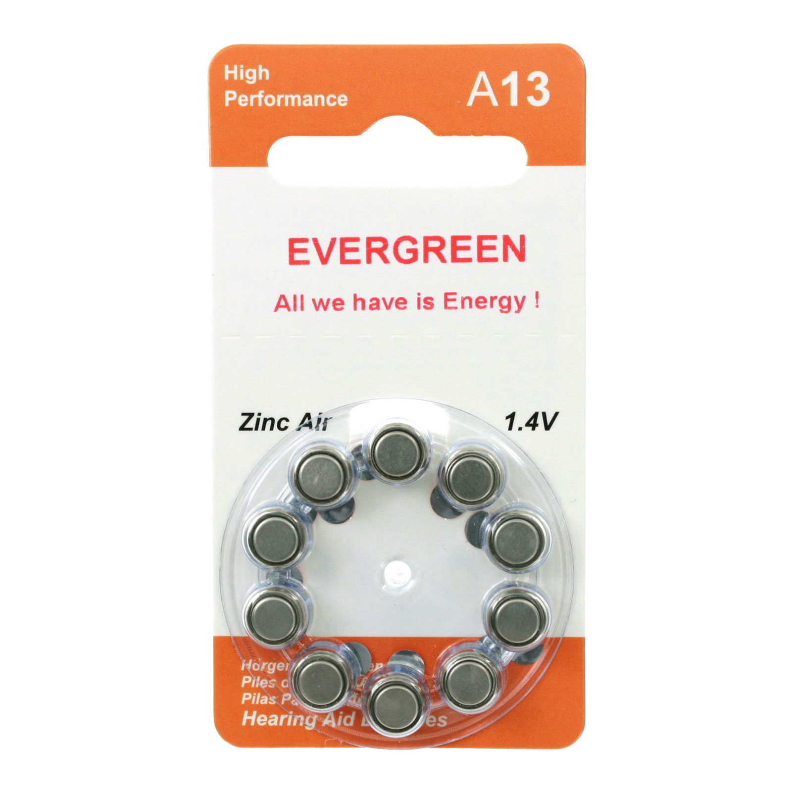 Hearing aid battery a13b10 evergreen 10pk size a13 zinc air 14v hearing aid battery a13b10 evergreen 10pk size a13 zinc air 14v fandeluxe Choice Image