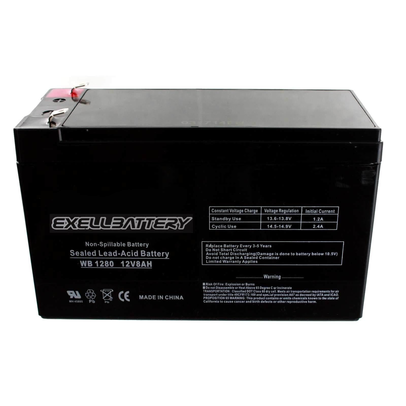 EB1280 F1 peg perego 12 volt 7 ah 8 ah slim battery replacement ***new  at soozxer.org