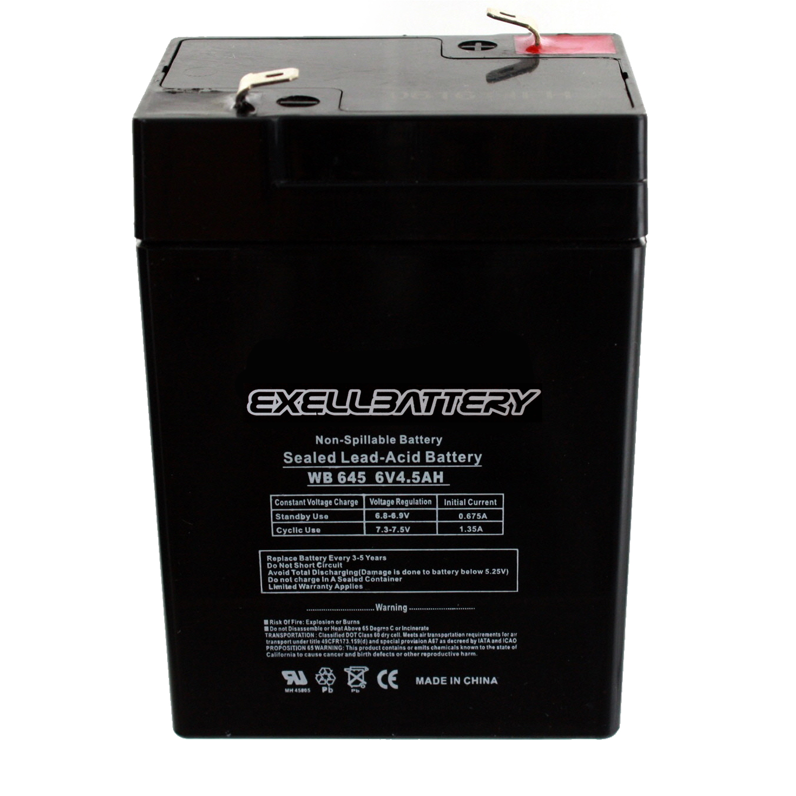 6 Pack Brand Product Mighty Max Battery ML4-6 6V 4.5AH Replaces APC 200DL Battery