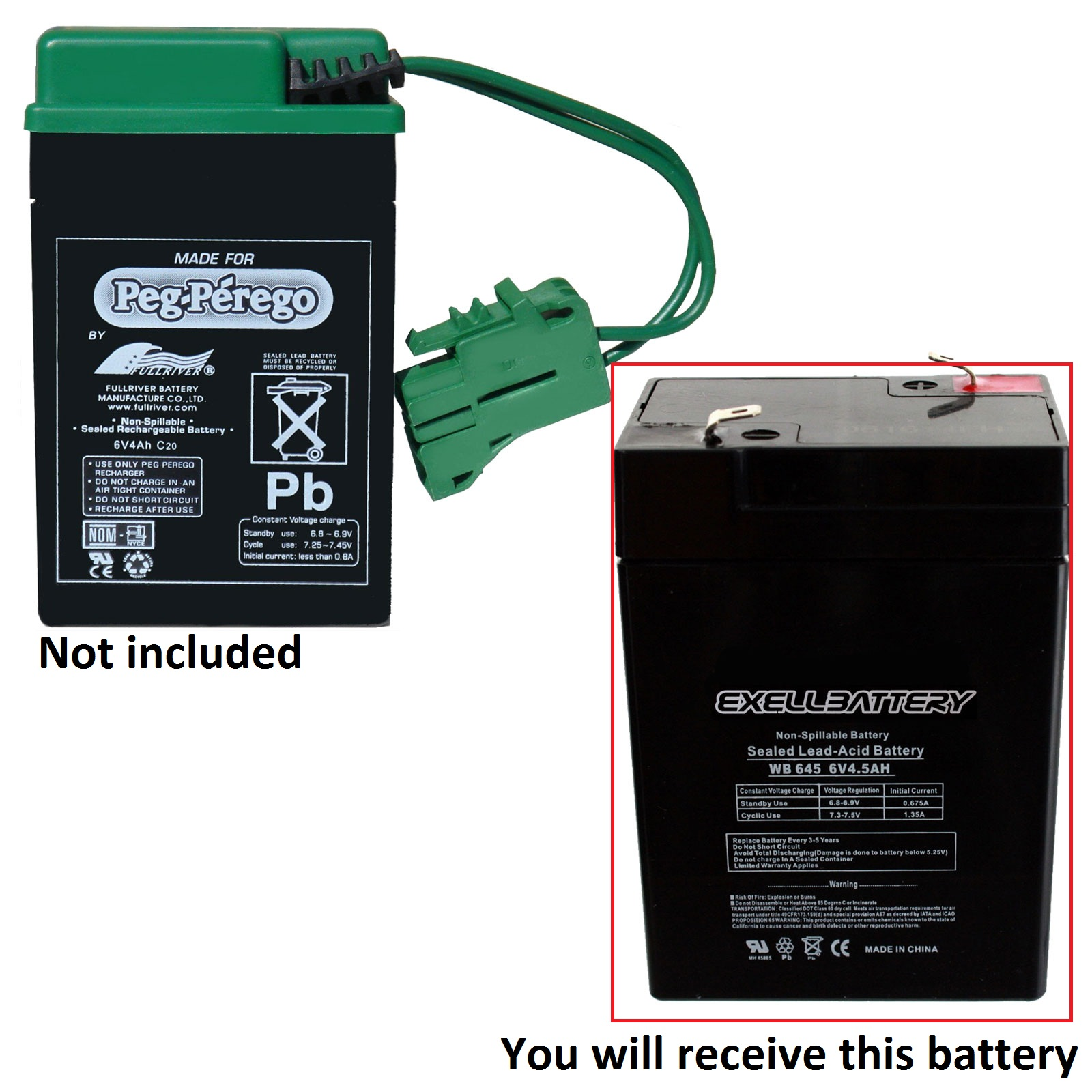 peg perego 6 volt 6 v john deere tractor replacement rechargeable battery new ebay. Black Bedroom Furniture Sets. Home Design Ideas