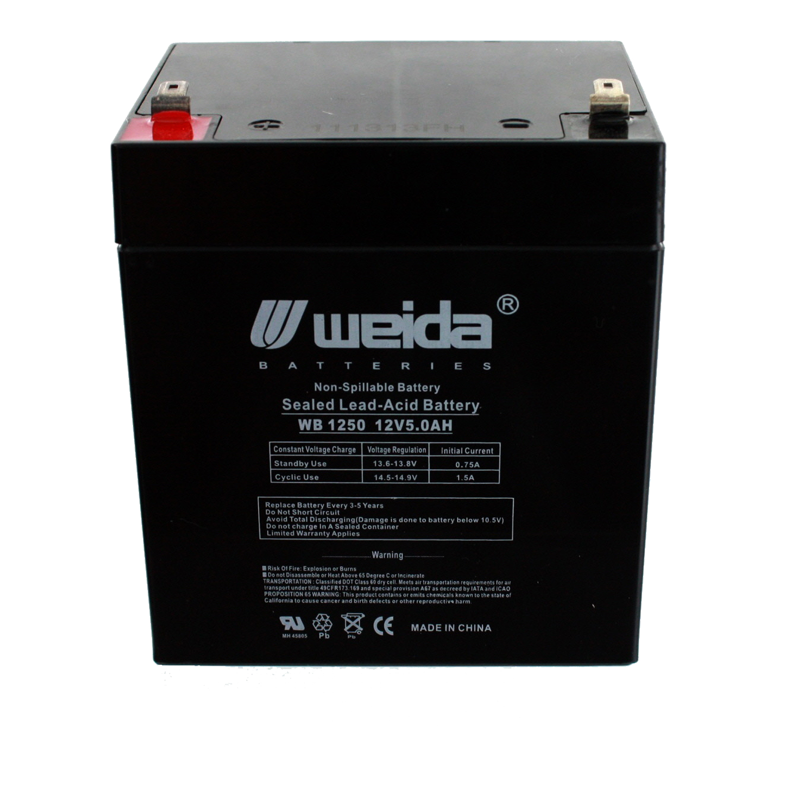 New 12v 5ah Sla Battery For Home Security Alarm Ub1250 Ps
