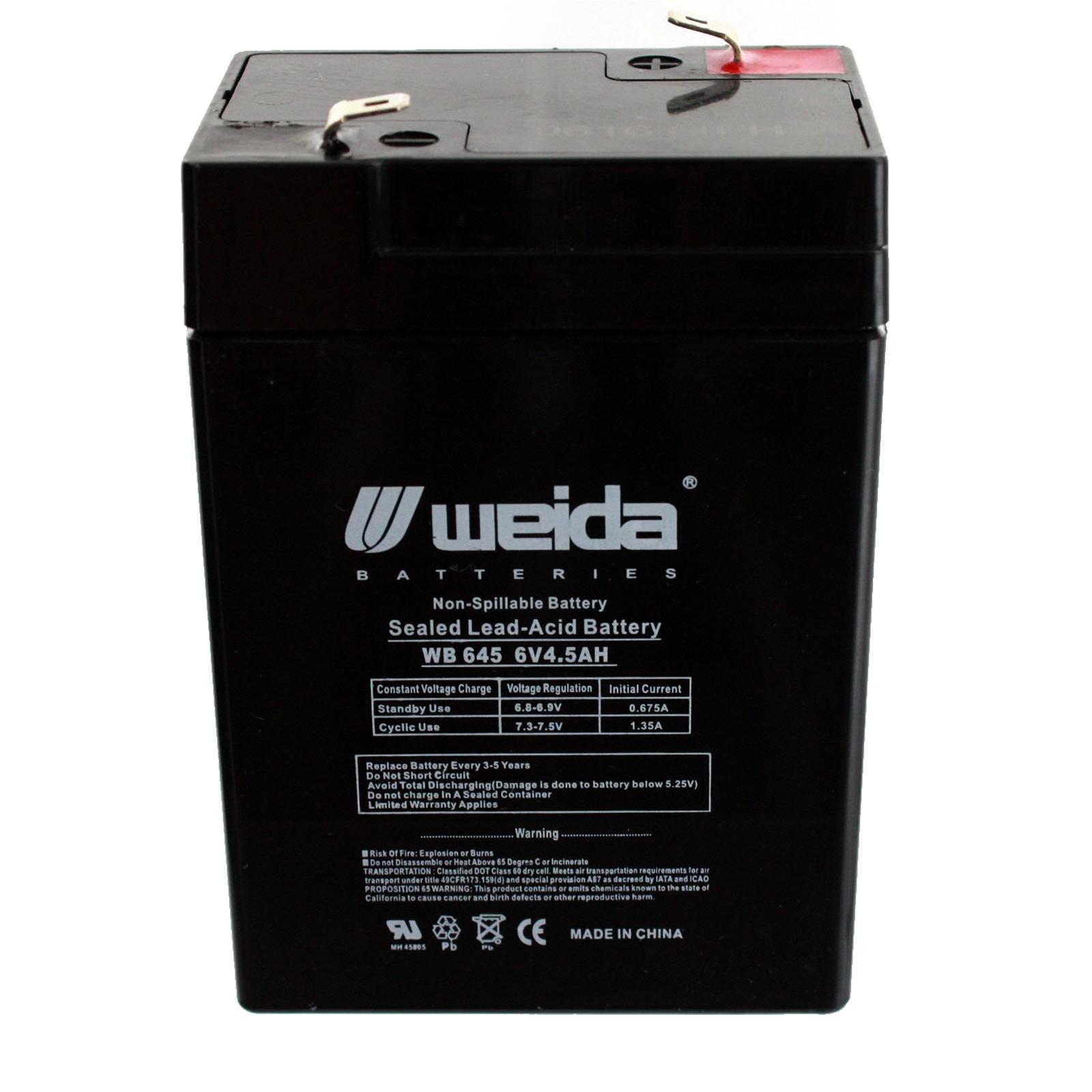 New 6v 4 5ah Sla Battery Wb645 For Ub645 Ps640f Np4 5 6