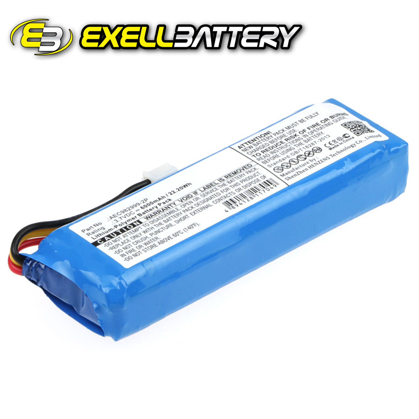 3 7v 6000mah Speaker Battery Fits Jbl Charge Replaces
