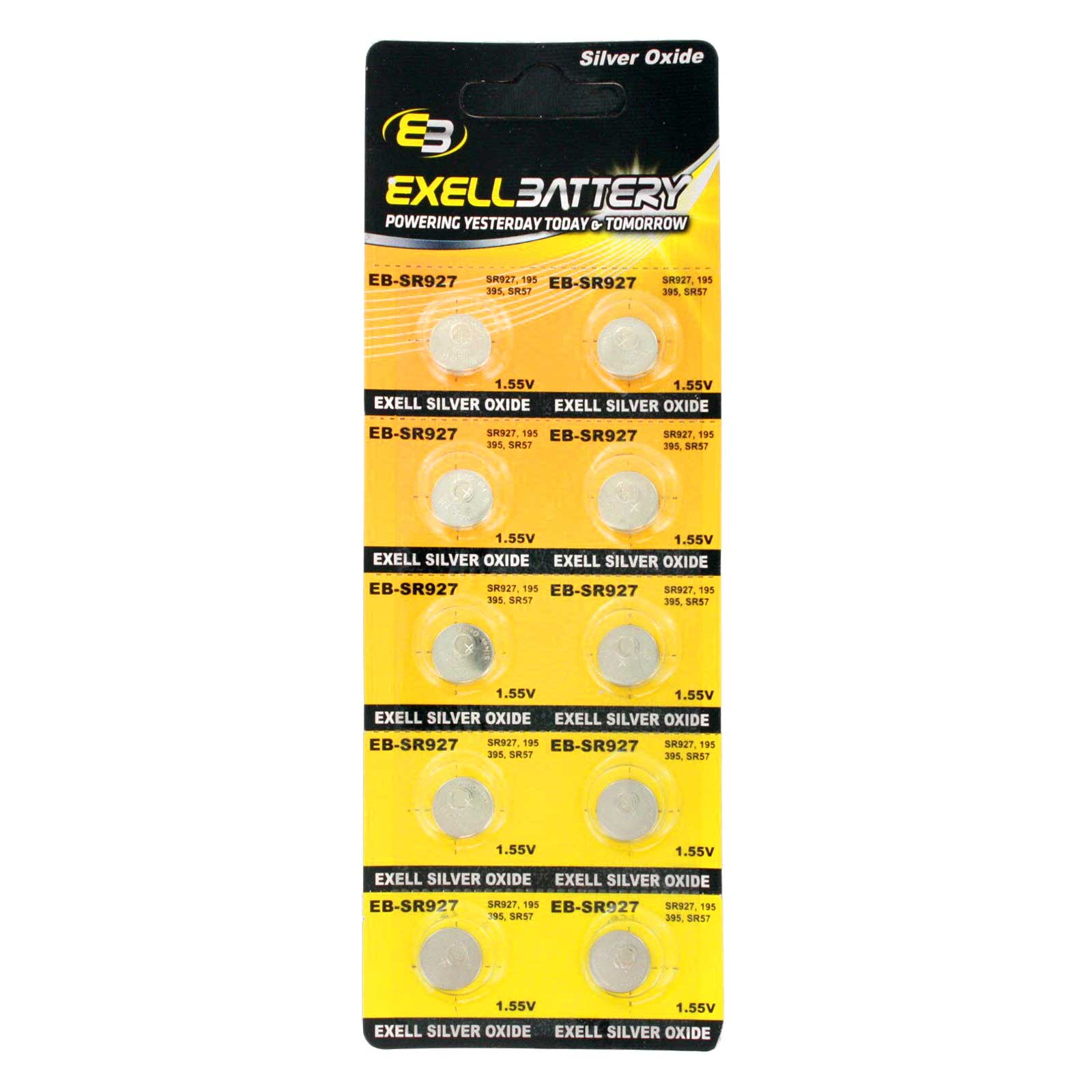 10pk exell eb sr927 silver oxide 15v watch battery replaces 395399 10pk exell eb sr927 silver oxide 15v watch battery replaces 395399 fandeluxe Choice Image