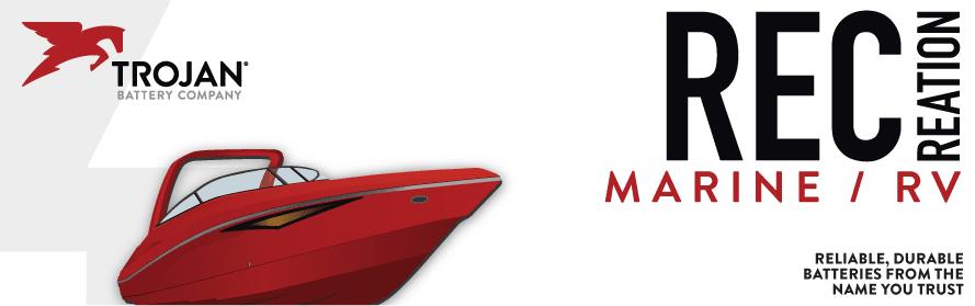 Trojan Batteries For Marine, Boat, Yacht, Trolling Motor, RV, Motorhome
