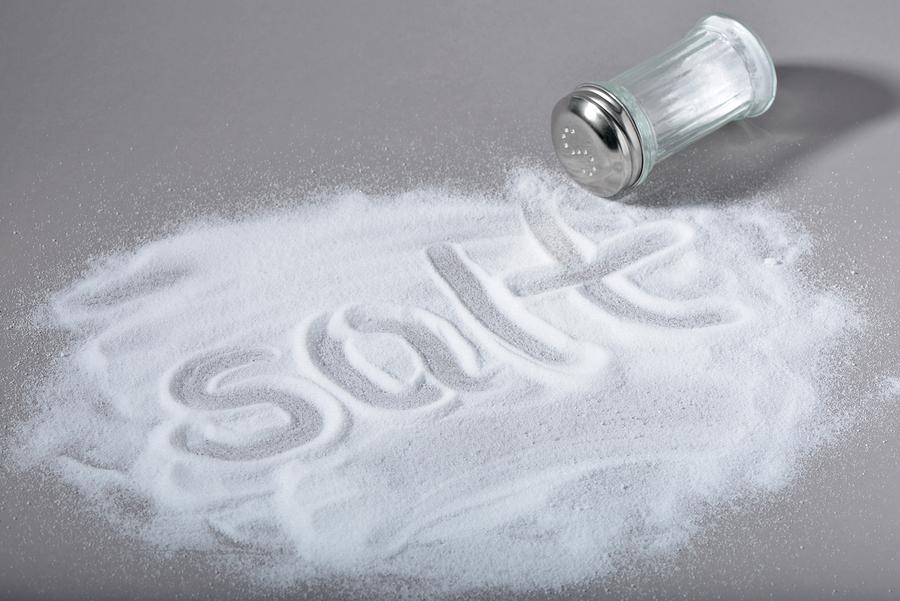Salt written on spilled salt image vignetted  Salt written on sp