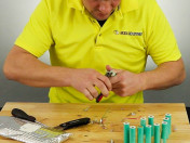 Cleaning 18650 Batteries with Needle Nose Pliers
