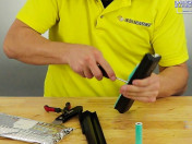 Remove 18650 Batteries with Screwdriver